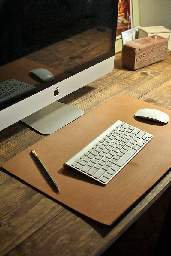 Leather Desk Pad by BiciCouture on Etsy