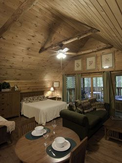 Hocking Hills Getaway Cabins, Ohio.  Had a lovely anniversary getaway here a couple of years ago.