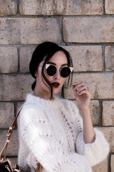 Ziemlich auffällige Sonnenbrille, dennoch ein Hingucker ist sie alle Male.  https://www.blickcheck.de/sehhilfen/brillen/sonnenbrillen/damen/