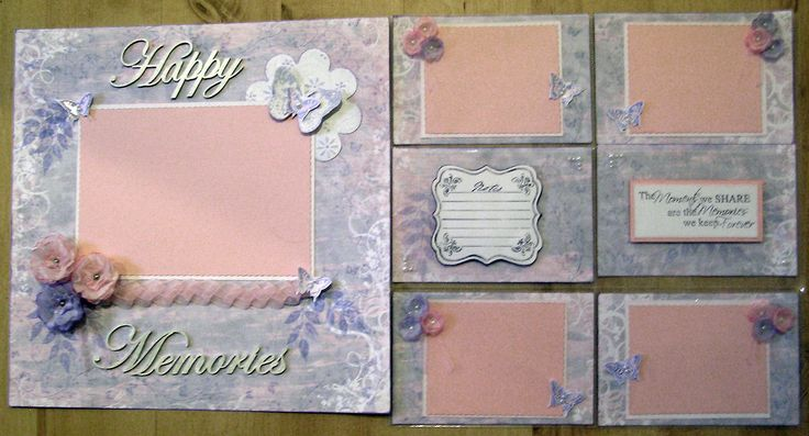 Page & Pockets layout I made for a very Special little girl.
