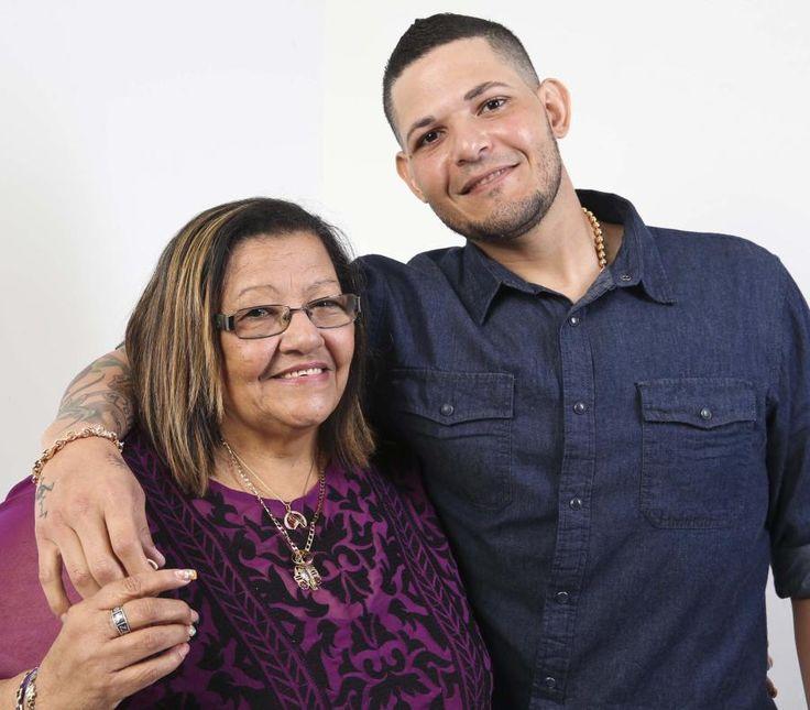 Yadier Molina junto a su mamá Gladys Matta