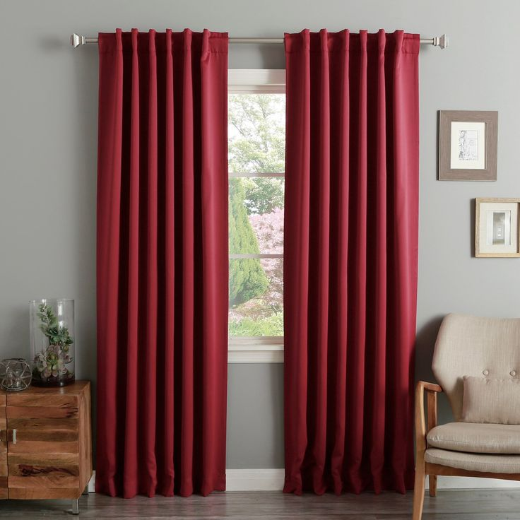 Aurora Home Thermal Insulated 108-inch Blackout Curtain Panel Pair
