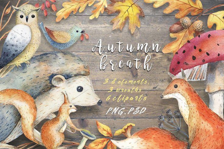 Autumn breath by Ponomarchuk Art on @creativemarket