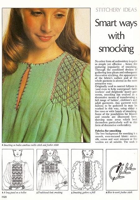 smocking on gingham instructions