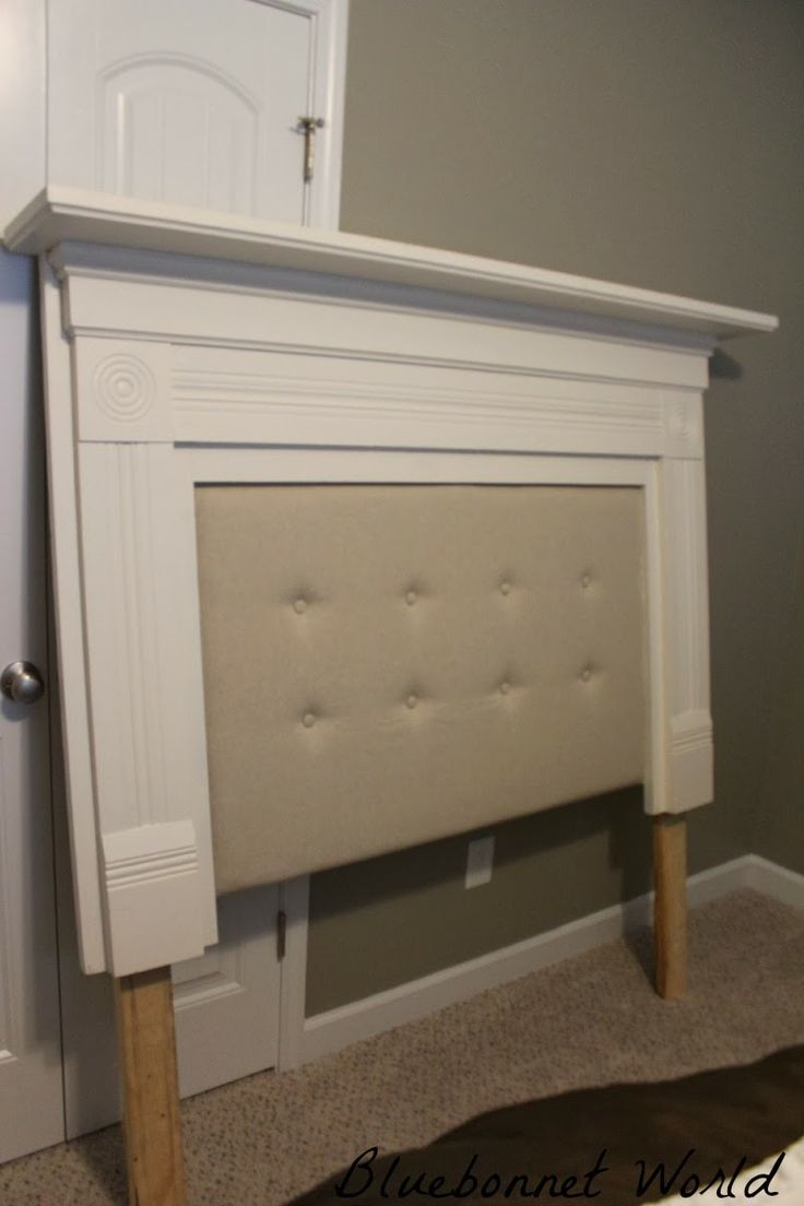 I am always seeing beautiful old mantles in antique shops, but never knew what I could do with them, but now i know, MAKE A HEADBOARD! WOW!
