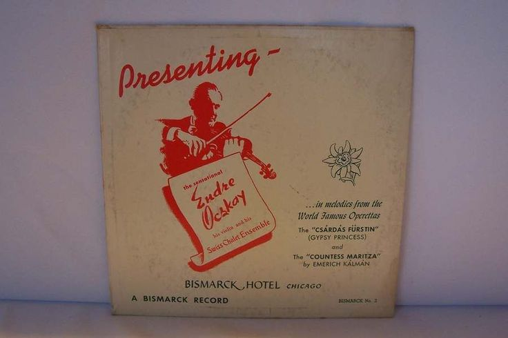 """Endre Ocskay An Evening At The Swiss Chalet Bismarck Hotel Chicago LP 10"""" Vinyl #Concerto"""