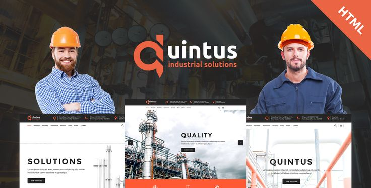 Quintus - Industry / Factory / Engineering HTML5 Template by modeltheme