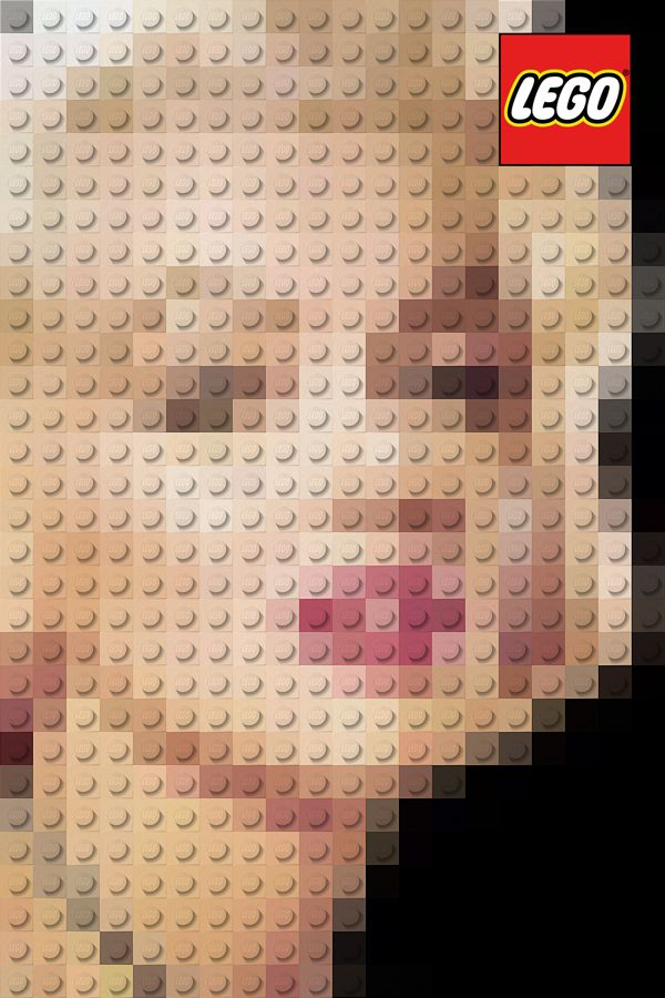 Omaggio a Marilyn Monroe in stile Lego by Applex, via Behance