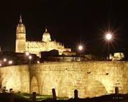 Catedral & Puente Romano, Salamanca, Spain.