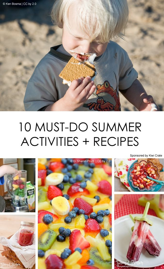 """Summer Bucket List: A mix of kid-friendly and mommy-only items  *I'm making that """"secret"""" fruit salad! Maybe the Mojito Popsicles too. ;-)"""