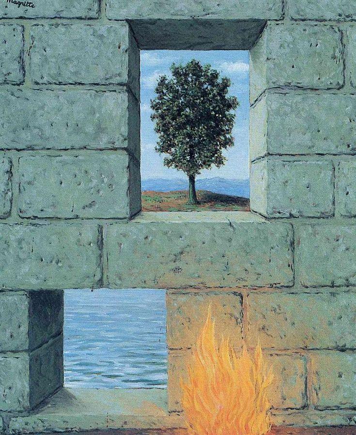 Рене Магритт -  Mental complacency  (1950) - Открыть в полный размер