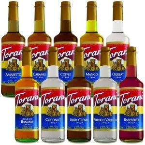 Torani Syrup Recipes  I love these, peach iced tea, salted caramel hot chocolate, so many great flavors❤️