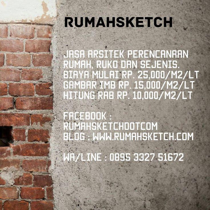 Jasa Design / Perencanaan Arsitektural Rumah TInggal, Kost, dan Hunian Sejenis mulai RP. 25,000 / M2