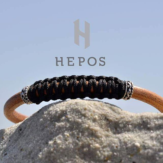 Our new genuine brown leather with braided element bracelet it's a simple stylish piece to stand alone or complement all other bracelets.  Available now at @heposmode check the bio! #be_epic #hepos #handmade