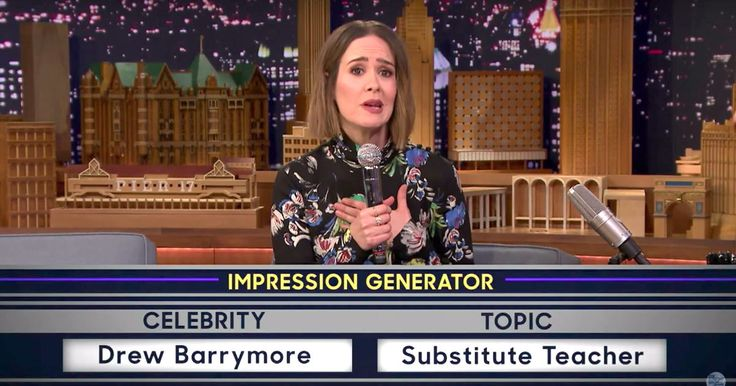 'American Horror Story's' Sarah Paulson Shows Off Her Skills In Jimmy Fallon's Wheel Of Impressions