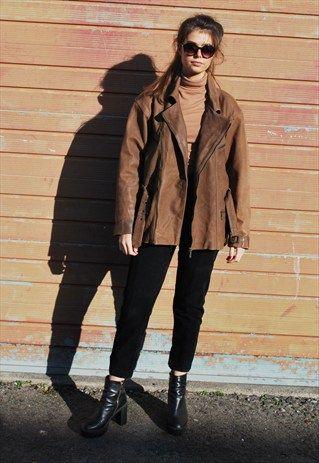 Vintage+Tan+Leather+Biker