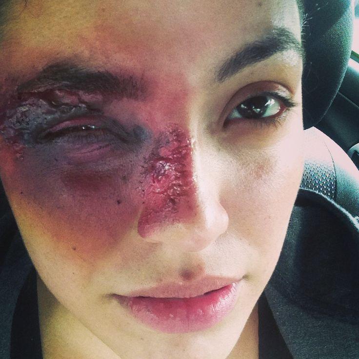 Black eye special effects makeup // SFX makeup Halloween Face ...