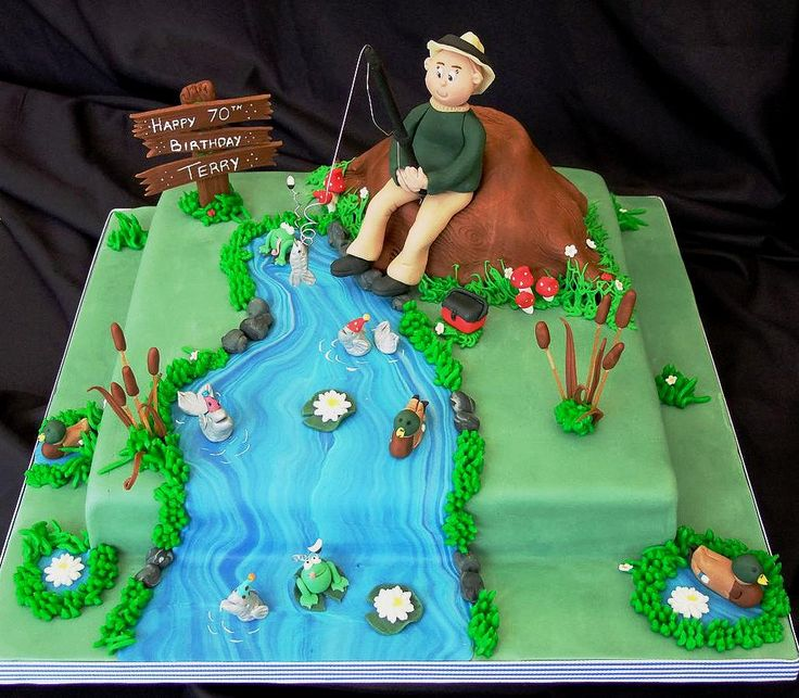 Fishing Cake for 70th Birthday :) | by Cake Head Creations