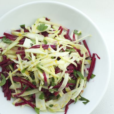 Let the essential flavor of one of our favorite roots, the beet, shine in a simple, raw slaw.