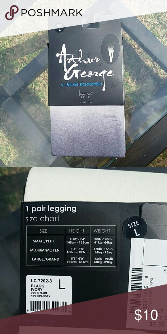 Price Drop !! Robert Kardashian hombre leggings Black to grey hombre leggings, never opened! Not see through, fairly thick (if you check the picture on the small you can see my hand underneath for reference! Pants Leggings