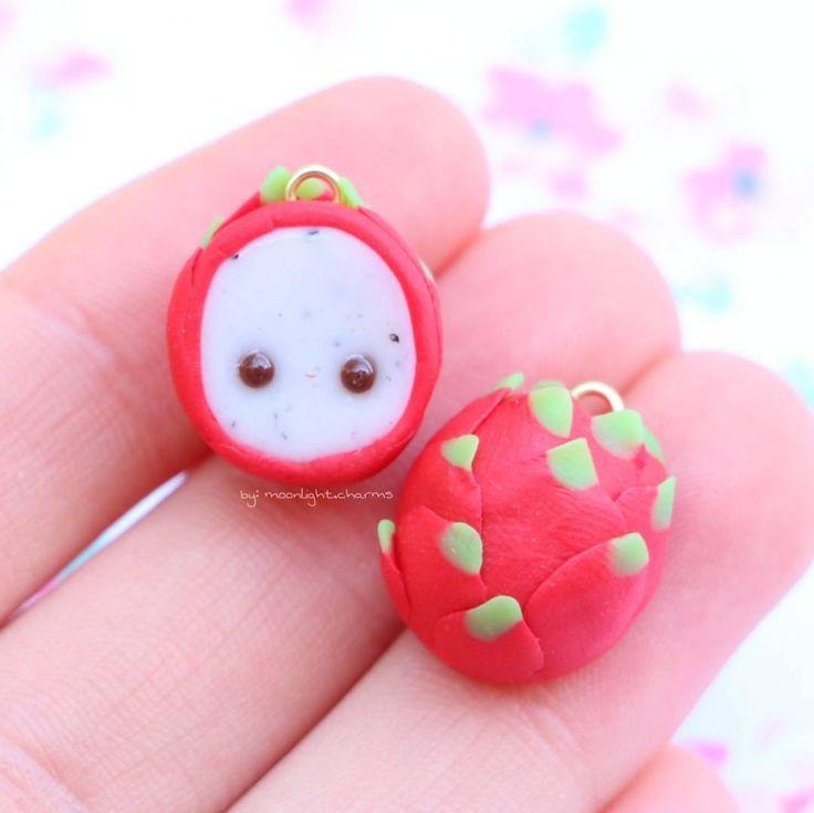 #kawaii #charms #polymer #clay #dragon #fruit