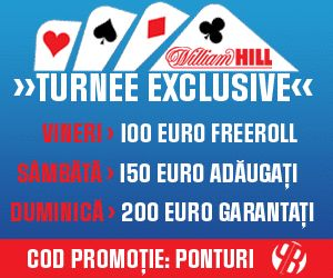William Hill: Turneu gratuit si concurs de predictii! - Poker