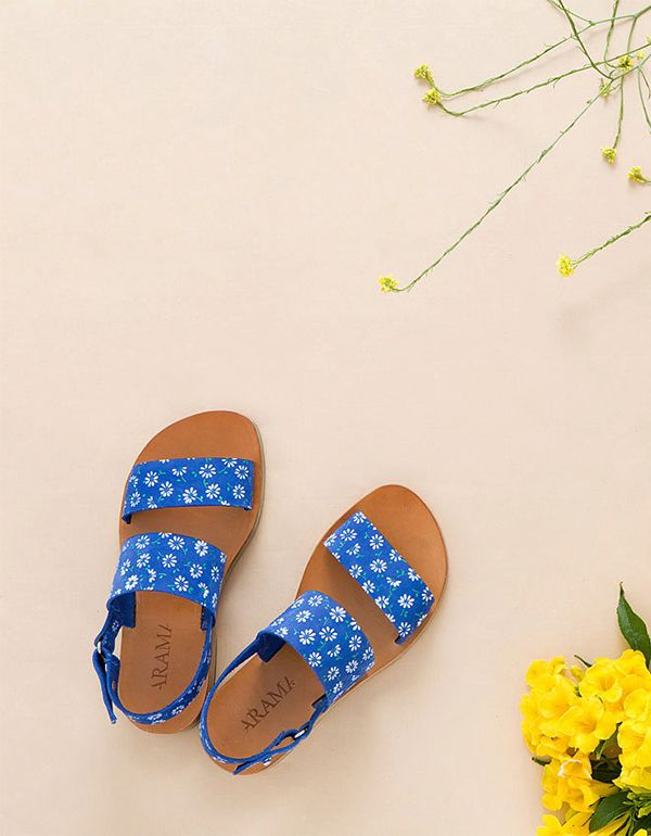 Love these sandals. The blue is super!