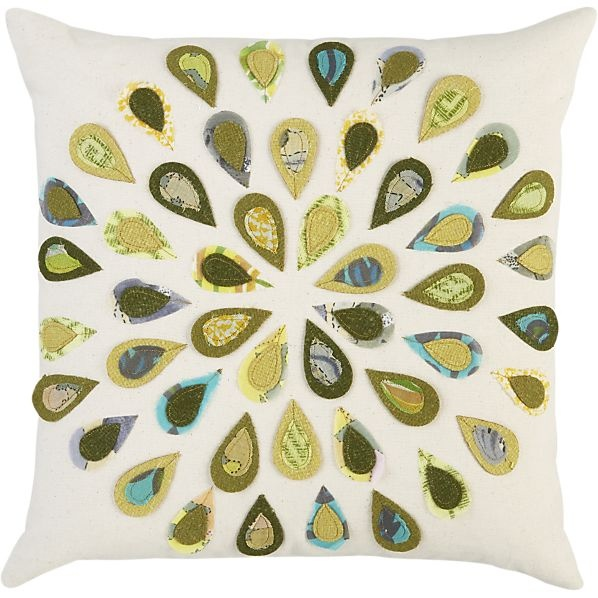 Crate And Barrel Decorative Pillow Covers : Peacock 16