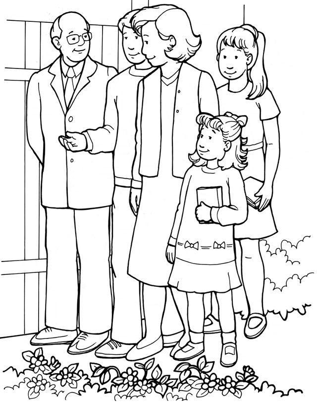 the church tells the good news coloring page