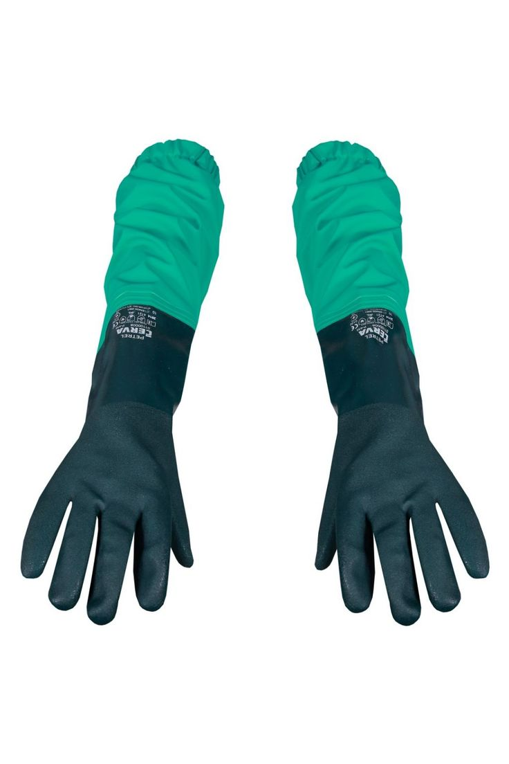 CHEMICAL PROTECTION SLEEVES Model: 423 The sleeves are made on chemical protection fabric called Plavitex Chemo, with welded waterproof gloves. The sleeves with gloves protect your hands and become as complement to Chemical Clothing. The product is recommended to be used in different factories where you can get in contact with acids and alkalis. Thanks to double high frequency welding, the seams are strong and resistant against tear.
