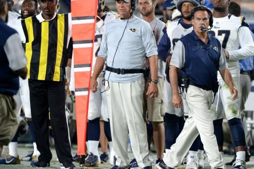 Longtime coach Jeff Fisher was very emotional when he announced the news of his firing last season to the Los Angeles Rams' coaching staff.