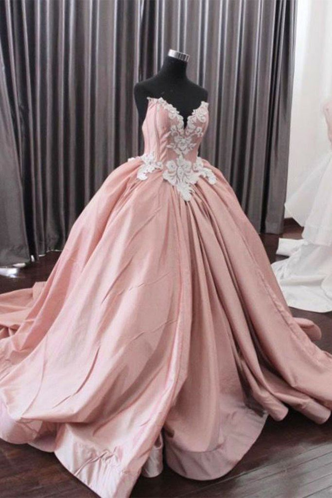Fashion Ball Gown Sweetheart Pink Long Prom Dress   fashion promdress eveningdress promgowns cocktaildress f8d3ad6200a5