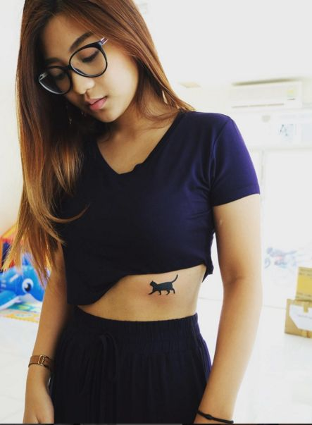 small cat tattoo #ink #youqueen #girly #tattoos #cats #placement @youqueen