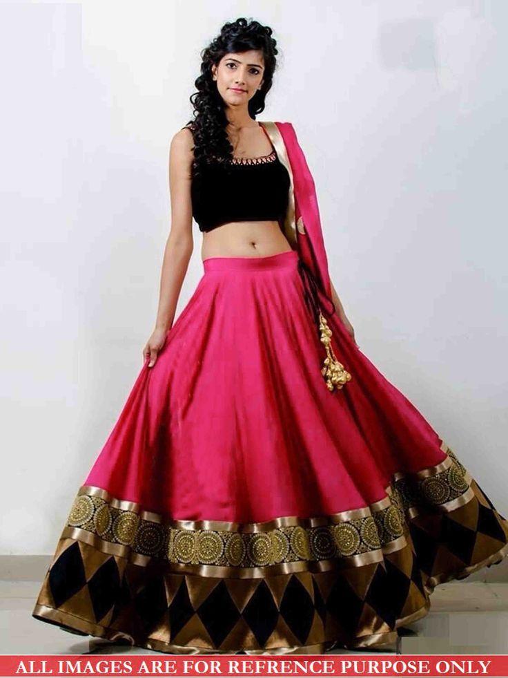 BFZ Designer Replica Rani Color Georgette Fabric Party Wedding Wear Gorgeous Look Lehenga Choli