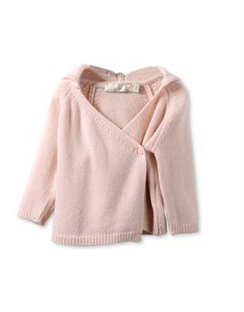 STELLA MCCARTNEY KIDS Baby Girl Pink Wool and Cashmere 'Ears' Cardigan. Shop here: http://www.tilltwelve.com/en/eur/product/1079997/STELLA-McCARTNEY-KIDS-Baby-Girl-Pink-Wool-and-Cashmere-Ears-Cardigan/