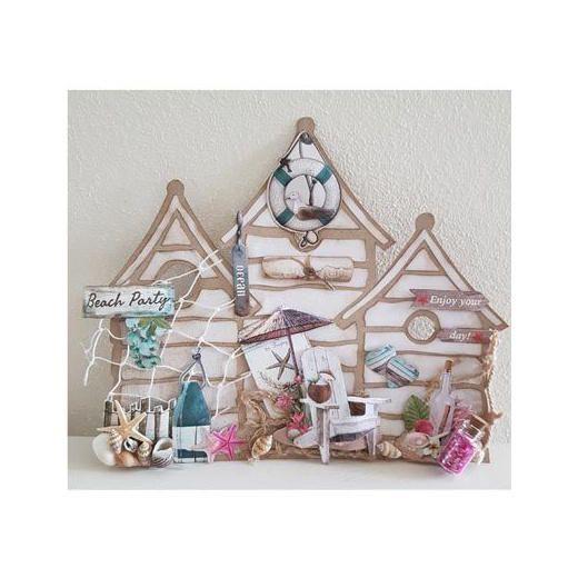 Dutch Doobadoo Card Art Template - Beach House 470.990.000