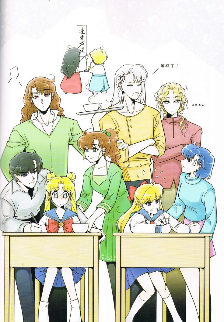 Usagi & Minako take a remedial exam Fanart by HANMIAOPhotoart from  ELOPE TO THE EARTH