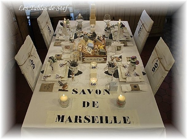 table savon de marseille