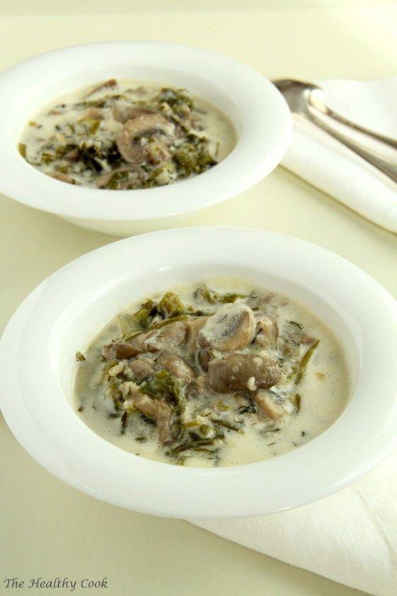 Greek Easter Soup with Mushrooms - Μαγειρίτσα με Μανιτάρια