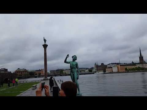 View over Stockholm from the Town hall - YouTube