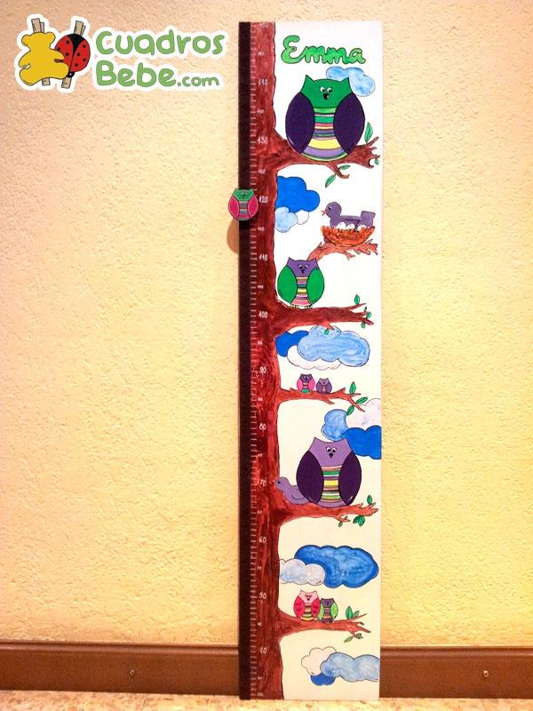 Medidor para habitaci n infantil o de beb para la - Medidor infantil madera ...