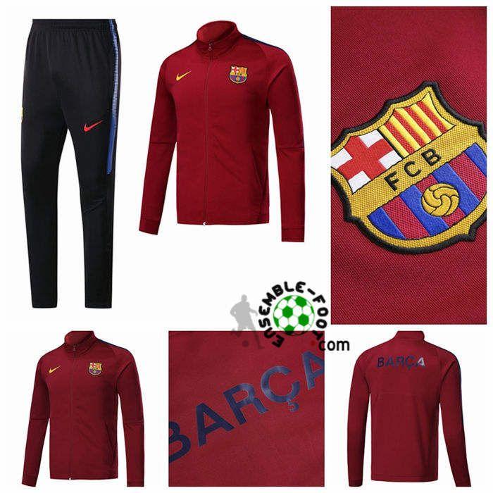 Nouveau Survetement de Foot - Veste FC Barcelone Bordeaux 2017/2018