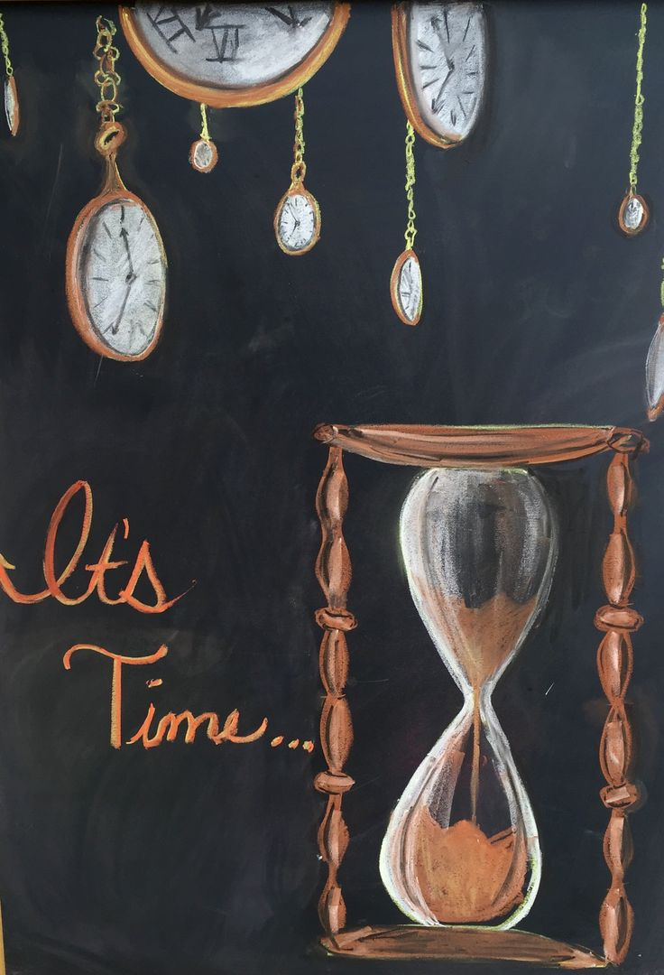 Hourglass Chalkboard Drawing                                                                                                                                                      More