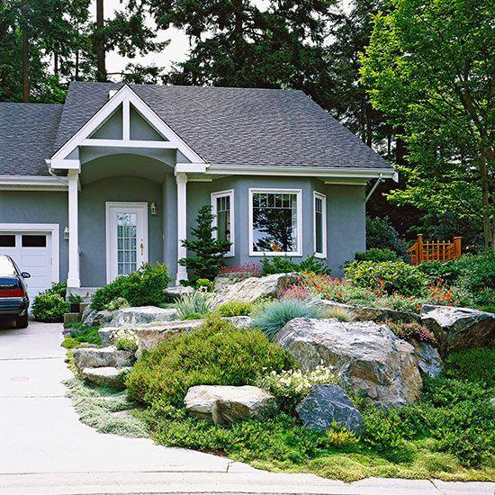Home Front Yard Landscaping Ideas: Best 25+ Boulder Landscape Ideas On Pinterest