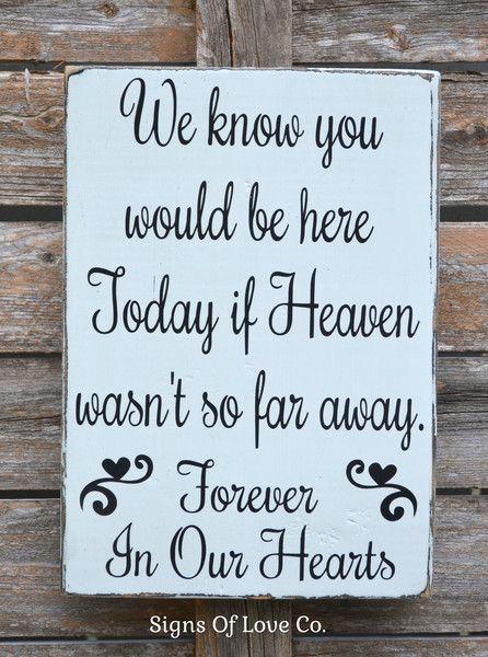 Wedding D 233 Cor Rustic Wedding Sign Memorial Table In Memory