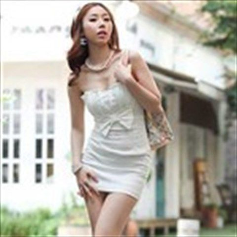 Binding Style Strapless One-piece Skinny Dress Off Shoulder Fitted Dress Skirt for Women Female Ladies