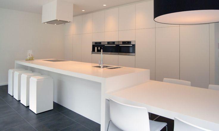 Keukenidee - doorlopende tafel