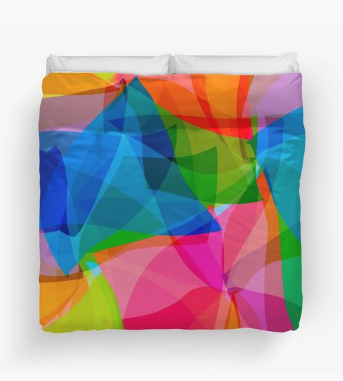 """Warm, unique and colorful, """"Tissues"""" Duvet Cover by Steel Graphics."""