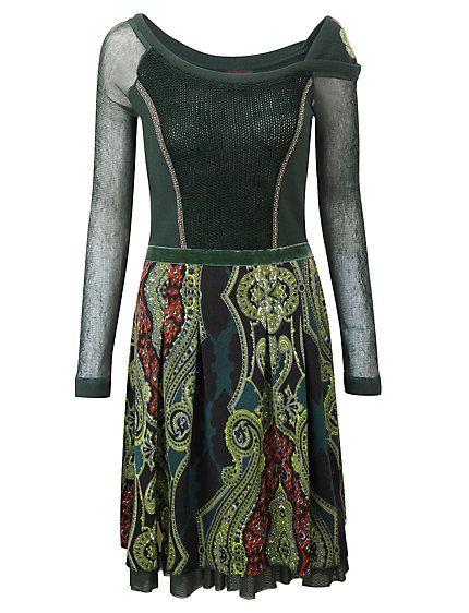 Koop Joe Browns - Jurk »levendig gedessineerde jurk« smaragd in de Heine online-shop