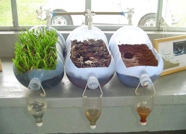 A picture tells a thousand words. If you need translation, the same water was passed through these three homemade filters. Clearly, plant life everywhere is necessary to cleanse water, air and the mind.